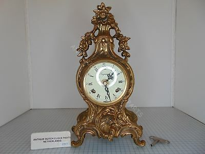Brass Imperial Barqoue Mantel Clock Double Bell