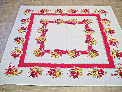Vintage Kitchen Tablecloth,46 x 52 inches