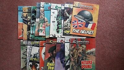 18 commando comics vintage job lot. Dated 1979. Cover price 8p,9p and 10p.