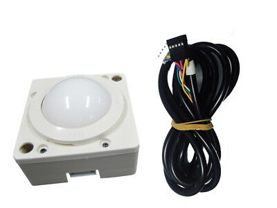 2 Inch White Ball Arcade Game Trackball Compatible With Jamma 412-in-1 Game Elf