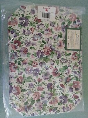 """Longaberger Sweet Pea May Series fabric Placemats set/2 19"""" X 13""""  NEW"""
