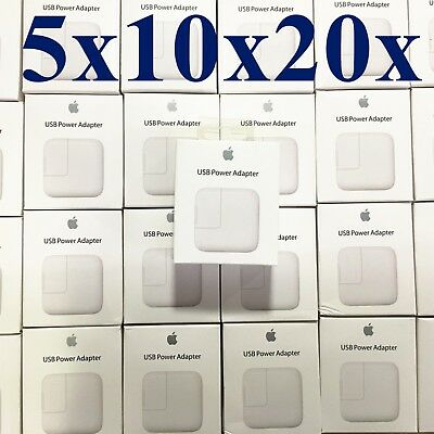 OEM Genuine 12W USB Power Adapter Wall Charger for Apple iPad lot of 5x10x20x