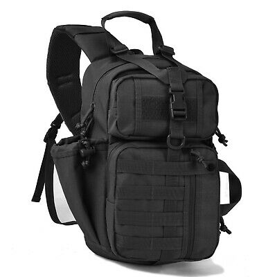 TACTICAL SLING BAG W/ Molle Military Rover Shoulder Backpack Mens Assault Pack