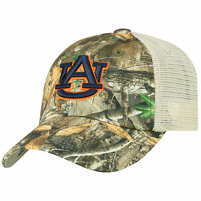 Auburn Tigers NCAA Adjustable Sentry Realtree Poly Twill and Mesh Hat Cap