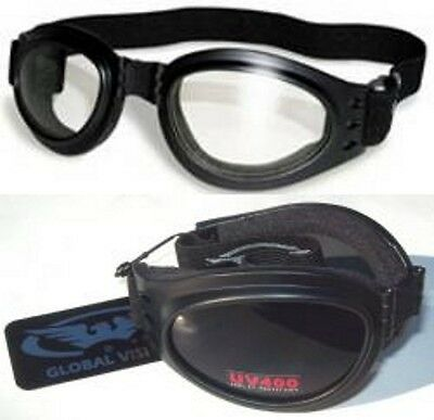 2 Cycling Skydiving Paragliding Scooter Motorcycle Goggles Padded Bullet Bike