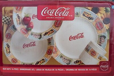 "15 Piece Coca Cola Limited Edition China ""The Good Ol' Days"" by Gibson NEW MINT"