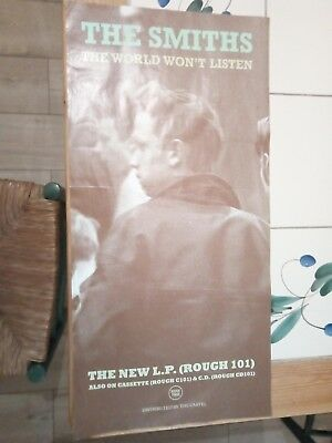 THE SMITHS ORIGINAL 80s VGC PROMO POSTER THE WORLD WONT LISTEN