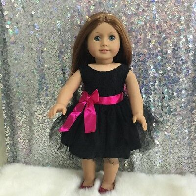 American Girl Our Generation Journey Girls 18 inch Doll Clothes Black Dress