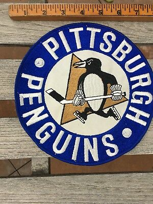 CIRCA Old Antique 1960s MINTY Pittsburgh Penguins Hockey Logo HUGE Patch Vintage
