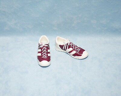 STYLISH Comfortable Maroon and White KEN Athletic Tennis Shoes Genuine BARBIE