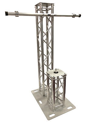 6.56FT 2 Meter Aluminum Plasma TV Mount +Speaker Stand DJ Lighting Truss Tower