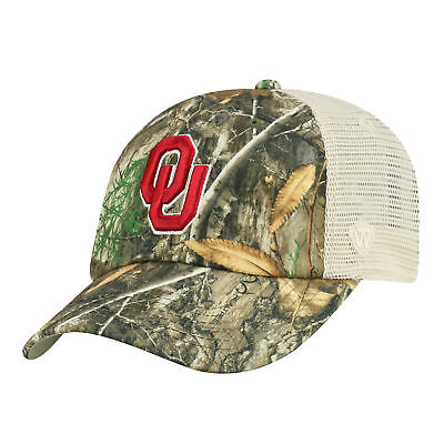 Oklahoma Sooners NCAA Adjustable Sentry Realtree Poly Twill and Mesh Hat Cap