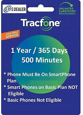 TracFone Service Extension 1 Year/365 Days.Premium Service For All Phones/Makers