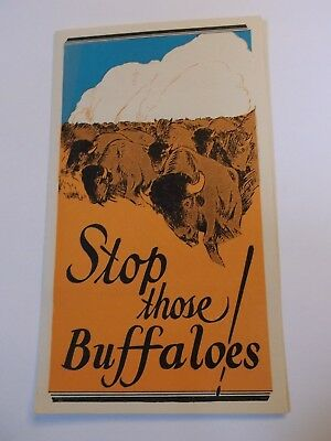 """Coca Cola 1930-31 Advertizing Pamphlets """" Stop those Buffaloes """""""