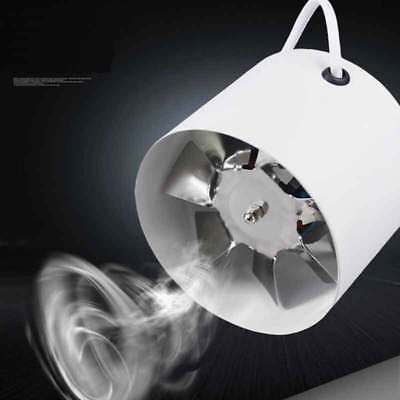 """New 4"""" Inch Inline Duct Fan Booster Exhaust Blower Air Cooling Vent Metal Blade"""