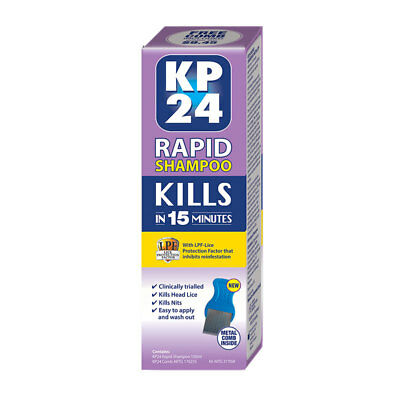 Kp24 Rapid Shampoo 100Ml With Comb Kills In 15 Minutes Head Lice