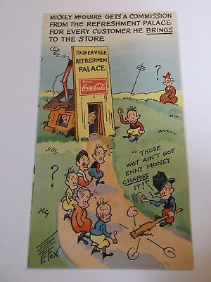"""Coca Cola 1930-31 Advertizing Pamphlets """"Mickey Mc Guire get a commission """""""