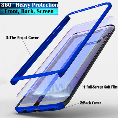 Samsung Galaxy Note 8 9 S8 S9 Plus 360 Full Cover Phone Case + Screen Protector
