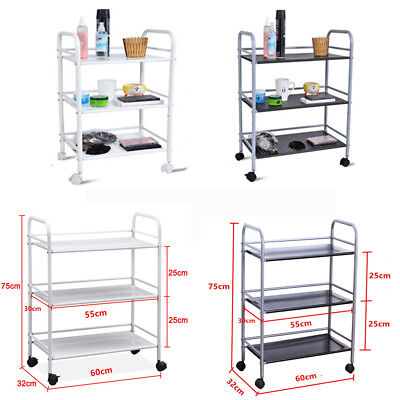 3/4 Shelf Beauty Salon Spa Trolley Shelf Cart Storage Tattoo Dentist Wax  UK