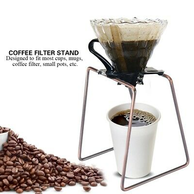 Stainless Steel Manual Pour Over Drip Coffee Tea Leaf Filter Holder Stand Rack