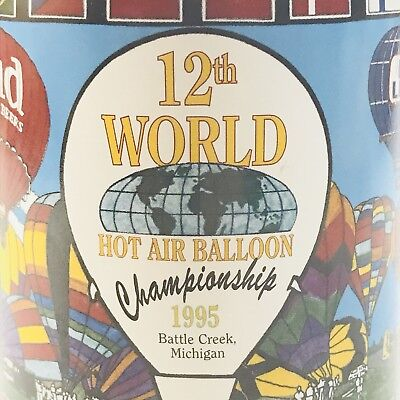 BUDWEISER 12th WORLD HOT AIR BALLOON CHAMPIONSHIP SPECIAL EVENT STEIN 1995