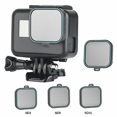 For TELESIN GoPro Hero 7/6/5 4 Pack ND Lens Protector Kit Set (ND4 ND8 ND16 )