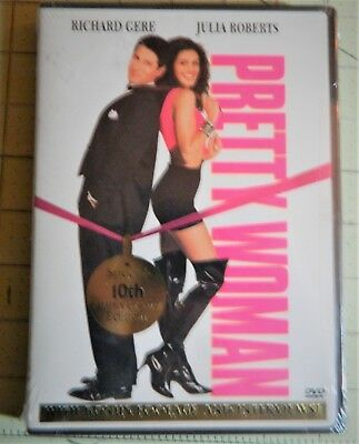 """""""Pretty Woman"""" with Julia Roberts (DVD, 2000, 10th Anniversary Edition) New"""