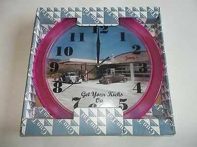 "Route 66 - 10"" Get Your Kicks On 66 Clock"