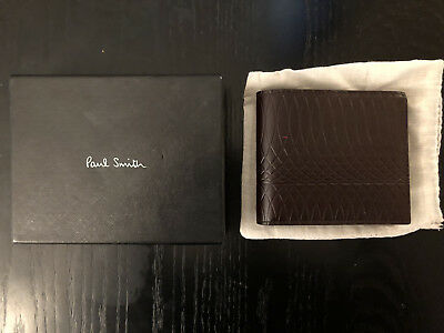 92a04e5c0f62 Paul Smith No.9 - Brown Leather Billfold Wallet With Two tone Interior