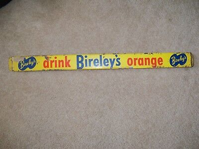 Original Vintage Bireley's Orange Soda Metal Door Push Sign 1940's Bireleys Pop