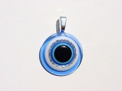 Italian Royal Blue Evil Eye Ancient Roman Greek  Men * Women Charm  Pendant