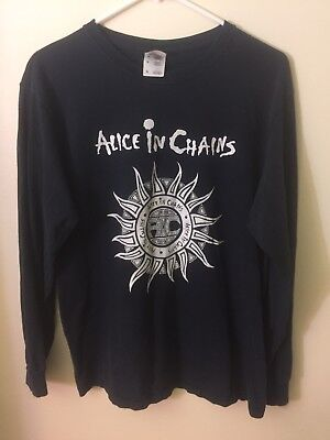 Vintage ALICE IN CHAINS Jar of Flies Sun Logo FADED distressed FOL t-shirt M