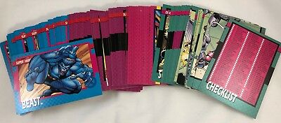 Marvel 1992 Impel 100 Playing Card Set Excellent Condition