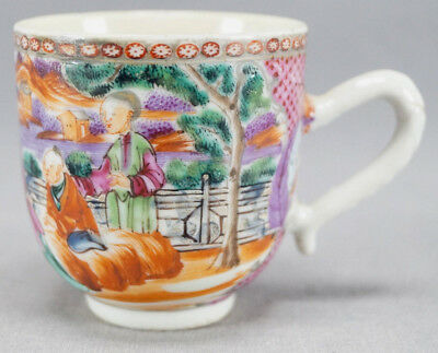 18th Century Chinese Export Hand Painted Famille Rose Porcelain Coffee Cup
