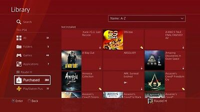 Ps4 has 288 games.