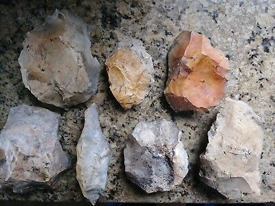 6 Large Mojave Desert Lake Manix Paleolithic  Neolithic Artifacts Collection