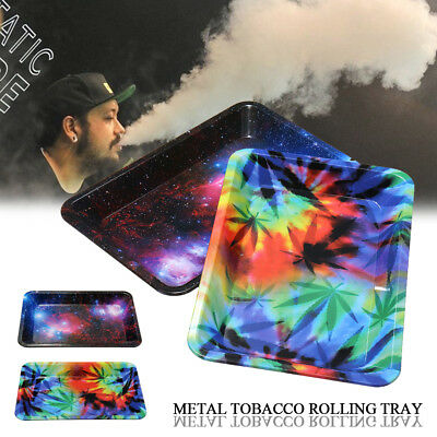Metal Cigarette Tobacco Rolling Tray Prime Smoking Holder 18*14cm / 7*4.9inch
