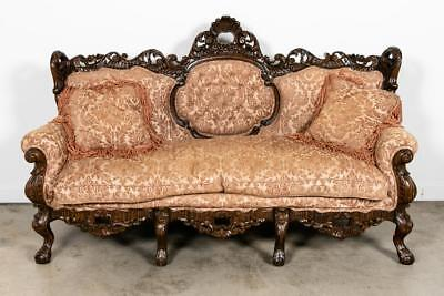 Georgeous Highly Carved Rococo Revival Style Sofa