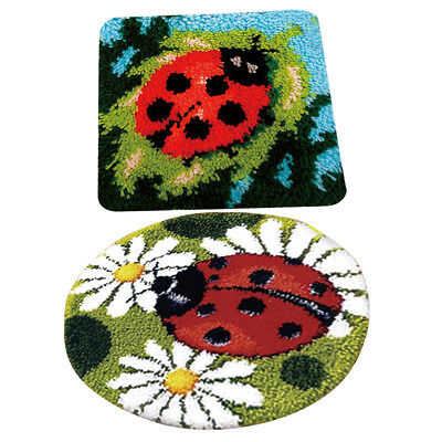 2 Sets Diy Ladybug Latch Hook Kits For