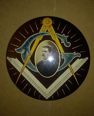 Early Large Masonic Plaque Wall Hanger