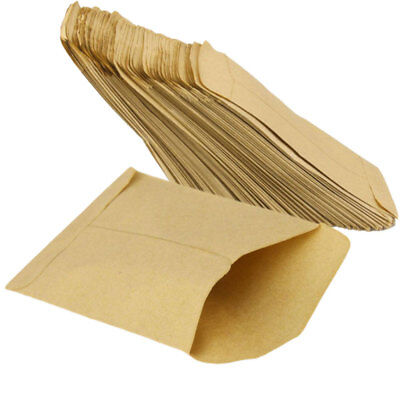 100 pcs Kraft Paper Cookie Candy Package Gift Bags Cellophane Party NEW