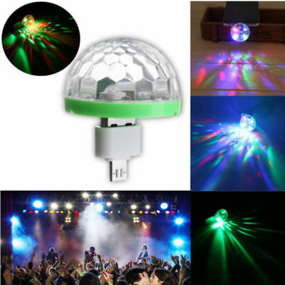 USB Mini LED Mushroom Light Disco Stage Light Party Club Lamp Ball For Phone