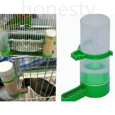 3pcs Pet Cage Aviary Bird Parrot Budgie Finches Drinker Food Feeder Waterer Clip