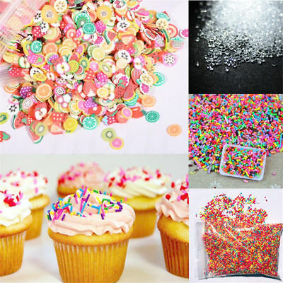 20/50g DIY Polymer Clay Colorful Fake Candy Sweets Sugar Sprinkles Decoration