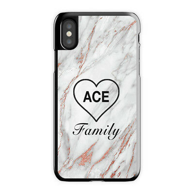 sale retailer b806b aad0c ACE FAMILY HEART - Rose Gold Marble iPhone Case X 6 7 S 8 Plus, Ace iPhone  Case