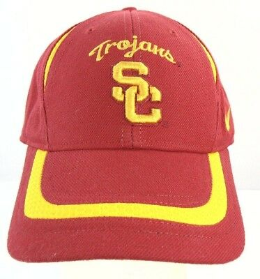 cc7fc271ca9df Authentic Apparel USC Trojans Hat Cap One Size Fits All Red Yellow Nike Team