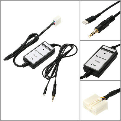 6Pin Car 3.5mm Aux-in Audio Adapter USB Interface Charging for Honda Acura