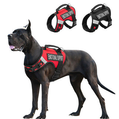 Service Dog Harness with Handle Pet Reflective Emotional Support Vest Removable