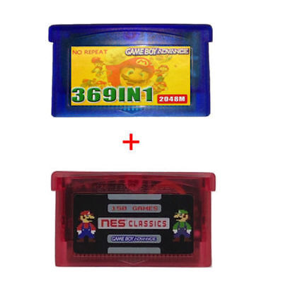 369 in 1 GBA + 150 in 1 NES Games For Nintendo GBA Multicart Cartridge NDS SP