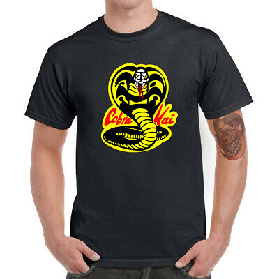 Cobra Kai Pendant Men's T-shirt Ringer Cotton Short Sleeve Casual Boy Tops Tee